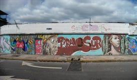 Mural on a wall on the avenue el cementerio Caracas Venezuela.  stock images