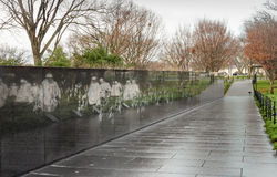 Mural Wall - Korean War Veterans Washington DC Stock Photos