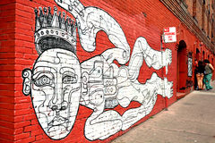 Mural wall paint in San Francisco California Royalty Free Stock Images