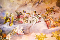 Mural on the wall. Mural on a wall in a temple in Vienna, Austria Stock Photography