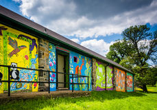 Mural on the walls of a building at Druid Hill Park in Baltimore Royalty Free Stock Photography