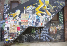 Mural in Williamsburg section in Brooklyn Stock Image