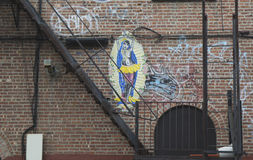 Mural in Williamsburg section in Brooklyn Royalty Free Stock Photo