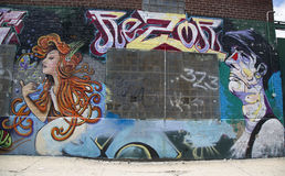 Mural in Williamsburg section in Brooklyn Royalty Free Stock Images