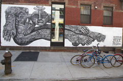 Mural in Williamsburg section in Brooklyn Stock Photo