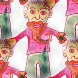 Muralbackground seamless  pattern man, beard Royalty Free Stock Images