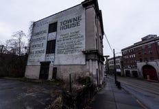 Murale abbandonato - Brownsville, Pensilvania Fotografie Stock