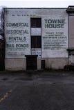Murale abbandonato - Brownsville, Pensilvania Fotografie Stock Libere da Diritti