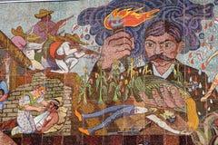 Murale al teatro dei insurgentes fotografia stock