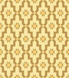 Murale beige del mosaico del modello del mosaico arabo Immagine Stock