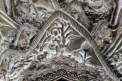 Murale bronzeo della Corea del Sud Fotografia Stock