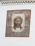 Murale in cattedrale di Cristo il salvatore, Irkutsk, Federazione Russa fotografia stock libera da diritti