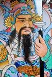Murale cinese - tempiale Bangkok, Tailandia di Bho Fotografia Stock