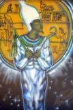 Murale dei egiziani Fotografie Stock Libere da Diritti