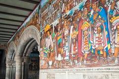 Murale del palazzo di governo a Tlaxcala (Messico) Fotografia Stock Libera da Diritti