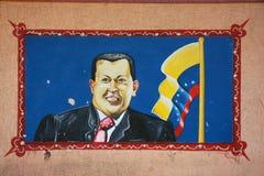 Murale del Presidente del Venezuela. fotografia stock libera da diritti