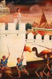 Murale della biografia del Buddha Immagini Stock Libere da Diritti