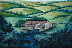 Murale della parete della casa dolce casa Immagini Stock Libere da Diritti
