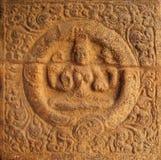 Murale della parete di una divinità di seduta Fotografie Stock Libere da Diritti