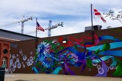 Murale della sirena Immagini Stock