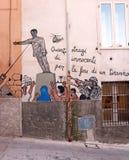 Murale della statua di Saddam Hussein Fotografia Stock Libera da Diritti