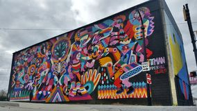 Murale di Atlanta Summerhill immagine stock libera da diritti