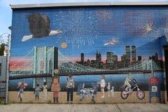 Murale di festa dell'indipendenza a Brooklyn Fotografie Stock