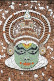 Murale di Kathakali Fotografie Stock