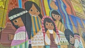 Murale di Mary Blair a Disney Immagini Stock Libere da Diritti