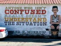 Murale di Murrow Fotografie Stock