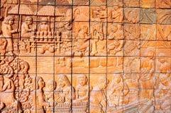 Murale di pietra. Fotografie Stock Libere da Diritti
