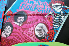 Murale di Rockstars in Haight Hasbury a San Francisco Immagine Stock