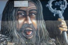 Murale di St John il battista Immagini Stock Libere da Diritti