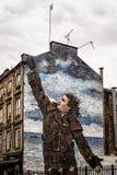 Murale di Vettriano di Billy Connelly, via di Dixon, Glasgow, Scotla fotografie stock libere da diritti