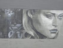 Murale femminile del fronte a Portland, Oregon fotografia stock