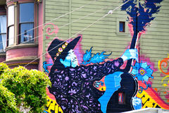 Murale in Haight Hasbury a San Francisco Fotografie Stock