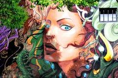 Murale in Haight Hasbury a San Francisco Immagini Stock Libere da Diritti