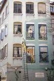 Murale, Mulhouse, l'Alsazia, Francia Fotografie Stock
