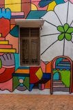 Murale nel Malacca, Malesia Fotografia Stock Libera da Diritti