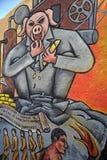 Murale nella città di Guanajuato, Messico Immagini Stock Libere da Diritti