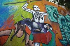 Murale nella città di Guanajuato, Messico Fotografia Stock