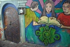 Murale nella città di Guanajuato, Messico Fotografie Stock