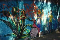 Murale nella città di Guanajuato, Messico Fotografia Stock Libera da Diritti