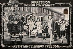Murale politico della strada di cadute Fotografia Stock Libera da Diritti
