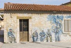 Murales,帕劳,撒丁岛,意大利,欧洲 免版税库存图片