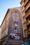 Murales à Budapest, Hongrie photo stock