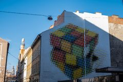 Murales à Budapest, Hongrie image stock