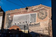 Murales à Budapest, Hongrie photos libres de droits