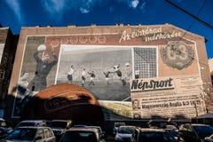 Murales à Budapest, Hongrie photographie stock libre de droits