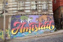 Murales σε Valparaiso, Χιλή στοκ φωτογραφία με δικαίωμα ελεύθερης χρήσης